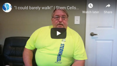Stem Cell Therapy Testimonial Video About Walking Again